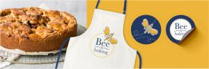 Bee is Baking Apron Stickers