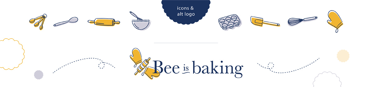 Bee is Baking Icons