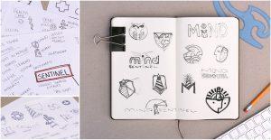 MindSentinel Brand Sketches